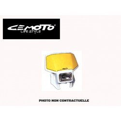 CEMOTO PLAQUE PHARE SIX DAYS JAUNE