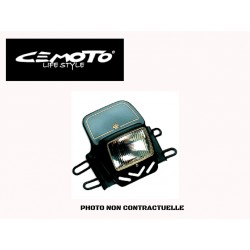 CEMOTO PLAQUE PHARE TRIAL BLANCHE