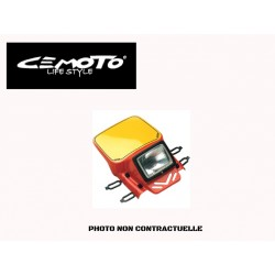 CEMOTO PLAQUE PHARE ENDURO TYPE UNIVERSELLE BLANC