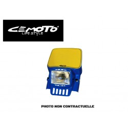 CEMOTO PLAQUE PHARE RECTANG ECO JAUNE