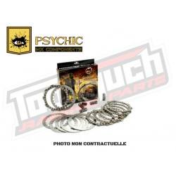 PACK EMBRAYAGE PSYCHIC KTM 144 SX 08 (disques lisses, garnis, ressorts)