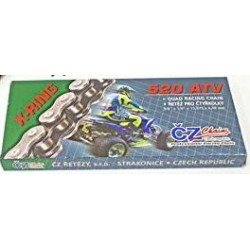 CHAINE RENFORCEE CHROME 102 MAILLONS CZ 520 ATV X-RING