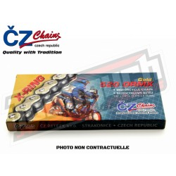 CHAINE RENFORCEE ENDURO CHROME 118 MAILLONS CZ 520 X-RING/ORMX
