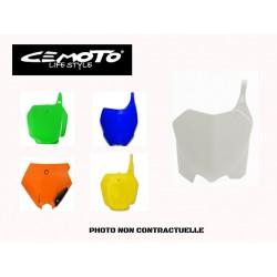 CEMOTO PLAQUE NUMERO AVANT HONDA TYPE CR 125/250 BLANC 95/99