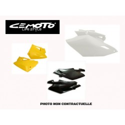 CEMOTO PLAQUES LATERALE YAMAHA YZ 85 02/13 BLANCHES